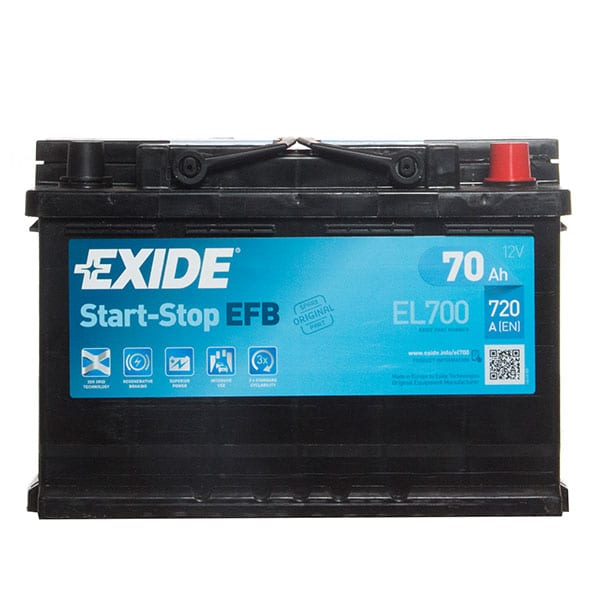 Exide EFB 096 Car Battery (EL700) – 3 year Guarantee