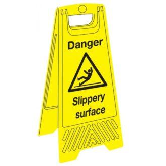 Janitorial Floor Sign – Danger Slippery Surface