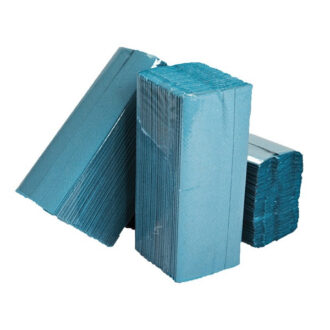 1 Ply Blue C-Fold Paper Hand Towels – Pack of 2880