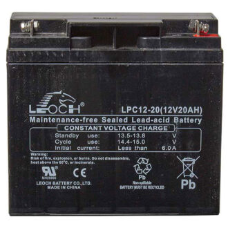 Leoch AGM Golf Trolley Battery – 12V 20Ah