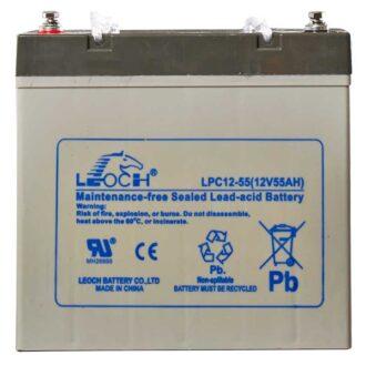 Leoch AGM Sealed Deep Cycle Battery 12V 55AH (Lug Term)