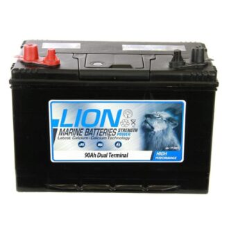 Lion Sealed Marine Battery – 90Ah Twin Terminals