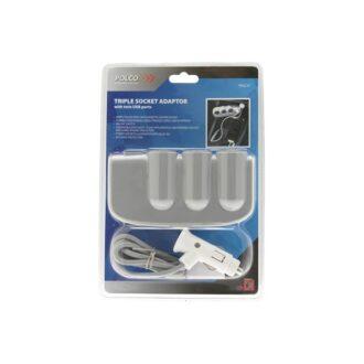 Triple Socket Adaptor & Twin USB – 12V