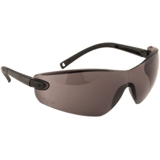 Pan View Spectacles – Black Frame – Smoke Lens