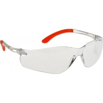 Pan View Spectacles – Clear & Orange Frame