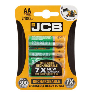 Rechargeable AA Batteries – 2400mAh – Pack of 4