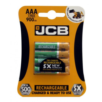 Rechargeable AAA Batteries – 900mAh – Pack of 4