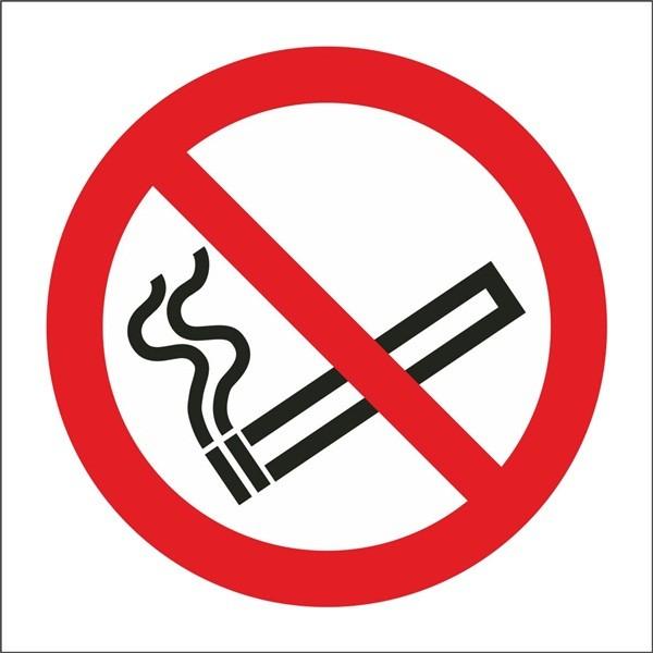 No Smoking Symbol – Self Adhesive Vinyl – 100mm x 100mm