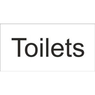 Toilets Sign – Self Adhesive Vinyl – 100mm x 200mm