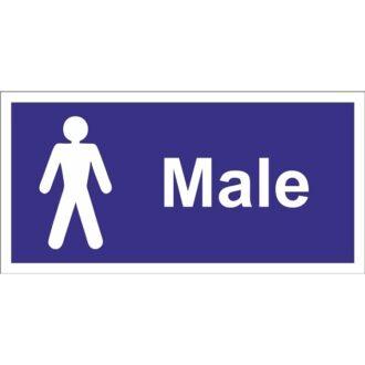 Male Toilet Sign – Self Adhesive Vinyl – 100mm x 200mm