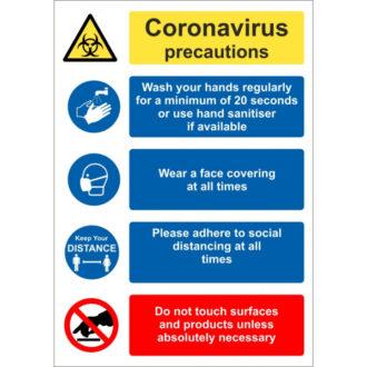 Coronavirus Precautions Poster Sticker