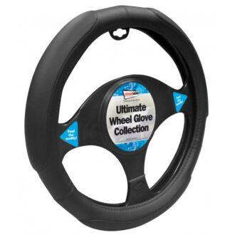Steering Wheel Cover – Added Grip – Black/Black