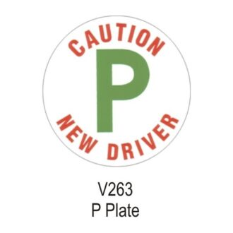 P Plate – Vinyl Sticker – Single