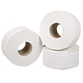 2 Ply White Mini Jumbo Toilet Rolls – 150m – Pack of 12
