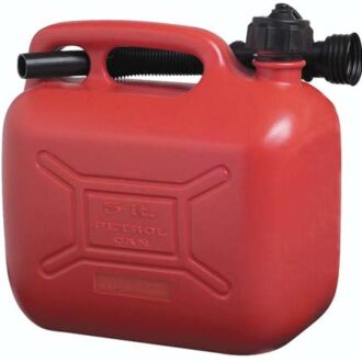COSMOS 5L RED PLASTIC FUEL CAN