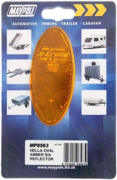 MAYPOLE HELLA OVAL AMBER S/A REFLECTOR DP