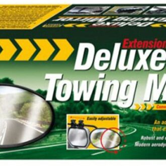 MAYPOLE DELUXE TOWING MIRROR CONVEX GLASS