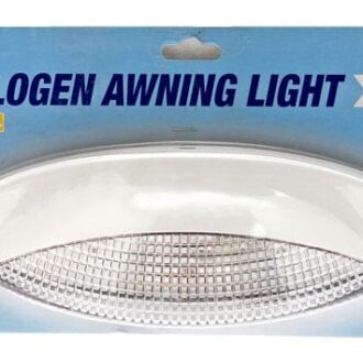 MAYPOLE AWNING LIGHT WITH HALOGEN BULB WHITE