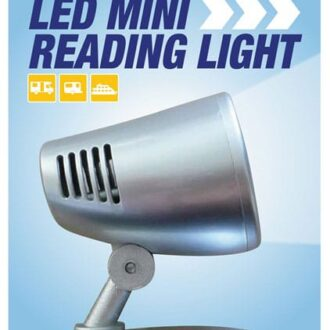 MAYPOLE 12V LED MINI-READING LIGHT – SILVER