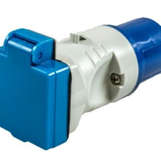 MAYPOLE 230V PLUG TO BS SOCKET ADAPTOR 16A
