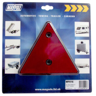 MAYPOLE REFLECTIVE TRAILER TRIANGLE -PAIR